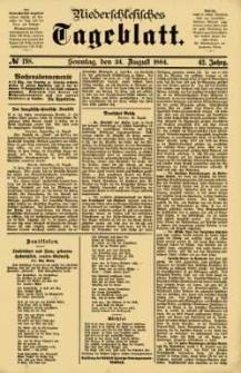 Niederschlesisches Tageblatt, no 198 (Sonntag, den 24. August 1884)