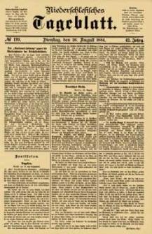 Niederschlesisches Tageblatt, no 199 (Dienstag, den 26. August 1884)