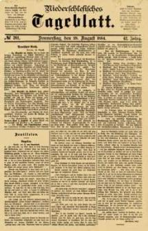 Niederschlesisches Tageblatt, no 201 (Donnerstag, den 28. August 1884)