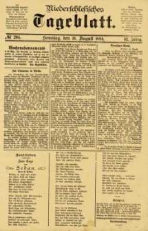 Niederschlesisches Tageblatt, no 204 (Sonntag, den 31. August 1884)