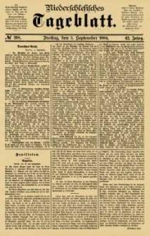 Niederschlesisches Tageblatt, no 208 (Freitag, den 5. September 1884)