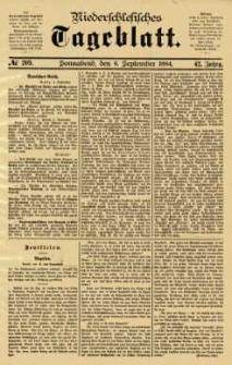 Niederschlesisches Tageblatt, no 209 (Sonnabend, den 6. September 1884)