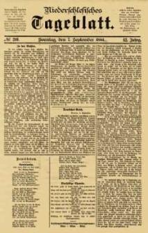 Niederschlesisches Tageblatt, no 210 (Sonntag, den 7. September 1884)
