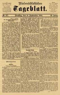 Niederschlesisches Tageblatt, no 217 (Dienstag, den 16. September 1884)