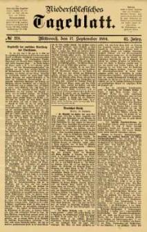 Niederschlesisches Tageblatt, no 218 (Mittwoch, den 17. September 1884)