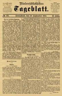 Niederschlesisches Tageblatt, no 221 (Sonnabend, den 20. September 1884)