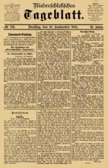 Niederschlesisches Tageblatt, no 223 (Dienstag, den 23. September 1884)