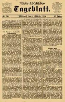 Niederschlesisches Tageblatt, no 230 (Mittwoch, den 1. Oktober 1884)
