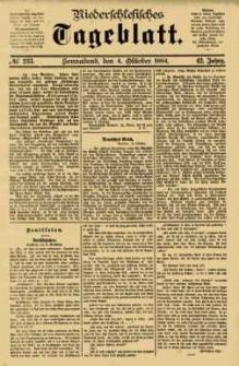 Niederschlesisches Tageblatt, no 233 (Sonnabend, den 4. Oktober 1884)