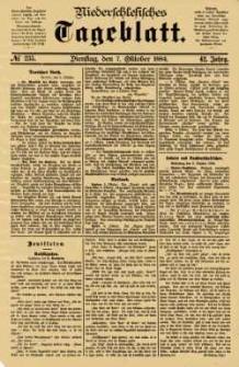 Niederschlesisches Tageblatt, no 235 (Dienstag, den 7. Oktober 1884)