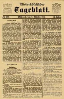 Niederschlesisches Tageblatt, no 236 (Mittwoch, den 8. Oktober 1884)