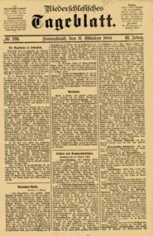 Niederschlesisches Tageblatt, no 239 (Sonnabend, den 11. Oktober 1884)