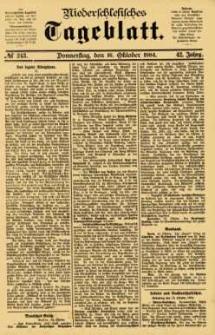 Niederschlesisches Tageblatt, no 243 (Donnerstag, den 16. Oktober 1884)