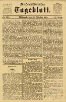 Niederschlesisches Tageblatt, no 248 (Mittwoch, den 22. Oktober 1884)