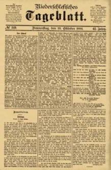 Niederschlesisches Tageblatt, no 249 (Donnerstag, den 23. Oktober 1884)