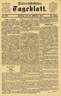 Niederschlesisches Tageblatt, no 250 (Freitag, den 24. Oktober 1884)
