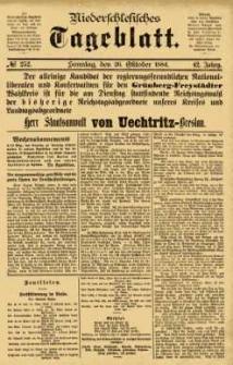 Niederschlesisches Tageblatt, no 252 (Sonntag, den 26. Oktober 1884)