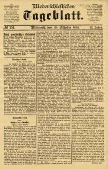 Niederschlesisches Tageblatt, no 254 (Mittwoch, den 29. Oktober 1884)