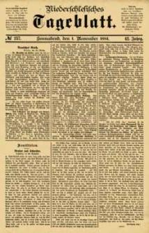 Niederschlesisches Tageblatt, no 257 (Sonnabend, den 1. November 1884)