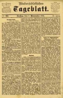 Niederschlesisches Tageblatt, no 262 (Freitag, den 7. November 1884)
