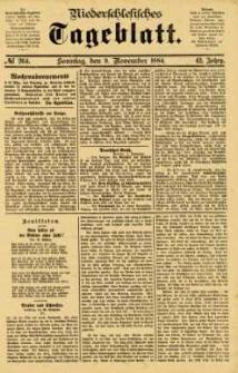 Niederschlesisches Tageblatt, no 264 (Sonntag, den 9. November 1884)