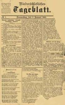 Niederschlesisches Tageblatt, no 1 (Donnerstag, den 1. Januar 1885)