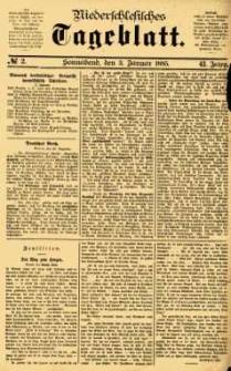 Niederschlesisches Tageblatt, no 2 (Sonnabend, den 3. Januar 1885)