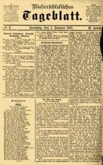Niederschlesisches Tageblatt, no 3 (Sonntag, den 4. Januar 1885)