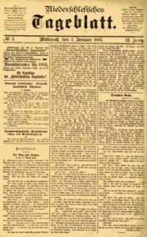 Niederschlesisches Tageblatt, no 5 (Mittwoch, den 7. Januar 1885)