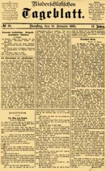Niederschlesisches Tageblatt, no 10 (Dienstag, den 13. Januar 1885)
