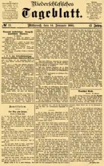 Niederschlesisches Tageblatt, no 11 (Mittwoch, den 14. Januar 1885)