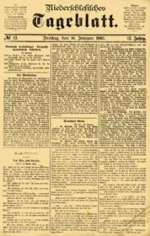 Niederschlesisches Tageblatt, no 13 (Freitag, den 16. Januar 1885)