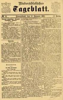 Niederschlesisches Tageblatt, no 14 (Sonnabend, den 17. Januar 1885)