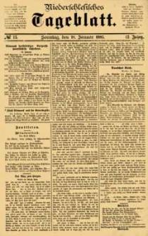 Niederschlesisches Tageblatt, no 15 (Sonntag, den 18. Januar 1885)