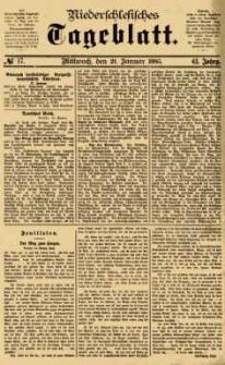 Niederschlesisches Tageblatt, no 17 (Mittwoch, den 21. Januar 1885)