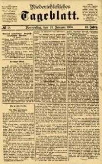 Niederschlesisches Tageblatt, no 18 (Donnerstag, den 22. Januar 1885)