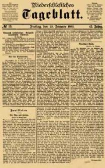 Niederschlesisches Tageblatt, no 19 (Freitag, den 23. Januar 1885)