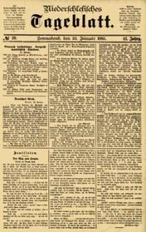 Niederschlesisches Tageblatt, no 20 (Sonnabend, den 24. Januar 1885)