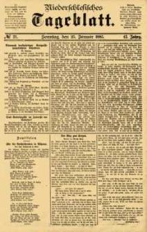 Niederschlesisches Tageblatt, no 21 (Sonntag, den 25. Januar 1885)