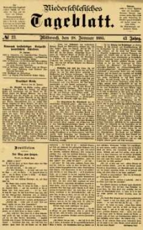 Niederschlesisches Tageblatt, no 23 (Mittwoch, den 28. Januar 1885)