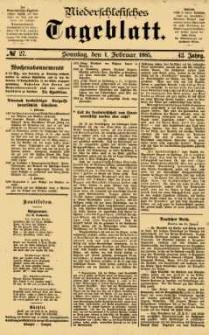 Niederschlesisches Tageblatt, no 27 (Sonntag, den 1. Februar 1885)