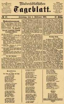 Niederschlesisches Tageblatt, no 33 (Sonntag, den 8. Februar 1885)