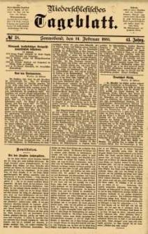 Niederschlesisches Tageblatt, no 38 (Sonnabend, den 14. Februar 1885)