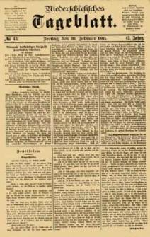Niederschlesisches Tageblatt, no 43 (Freitag, den 20. Februar 1885)