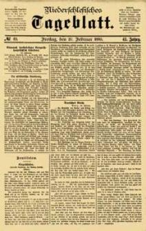 Niederschlesisches Tageblatt, no 49 (Freitag, den 27. Februar 1885)
