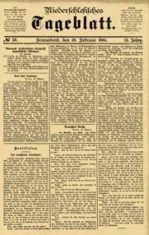 Niederschlesisches Tageblatt, no 50 (Sonnabend, den 28. Februar 1885)