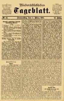 Niederschlesisches Tageblatt, no 54 (Donnerstag, den 5. März 1885)