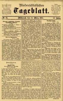 Niederschlesisches Tageblatt, no 59 (Mittwoch, den 11. März 1885)