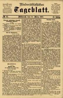 Niederschlesisches Tageblatt, no 65 (Mittwoch, den 18. März 1885)