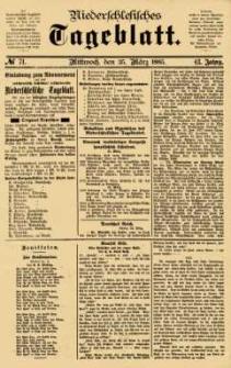 Niederschlesisches Tageblatt, no 71 (Mittwoch, den 25. März 1885)